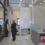 mamparas cristal oficinas
